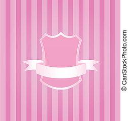 cor-de-rosa, bebê, emblema