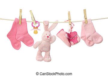 cor-de-rosa, bens bebê