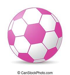cor-de-rosa, bola futebol