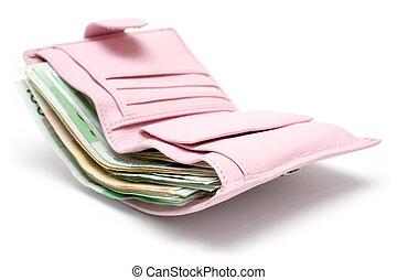 cor-de-rosa, bolsa
