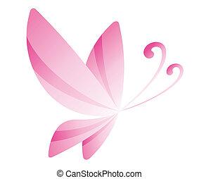 cor-de-rosa, borboleta