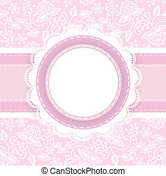 cor-de-rosa, branca, renda, fundo