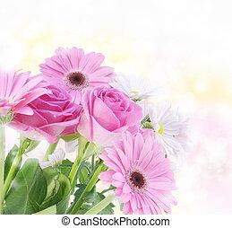 cor-de-rosa, buquê floral