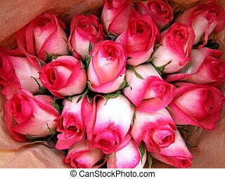 cor-de-rosa, buquet