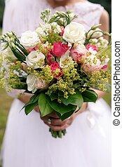 cor-de-rosa, buquet, boho, casório, rosas
