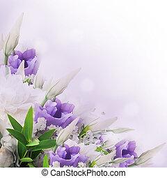 cor-de-rosa, buquet, nupcial, flores, branca