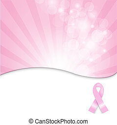 cor-de-rosa, câncer, fundo, fita, peito