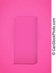 cor-de-rosa, caixa, fundo