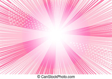 cor-de-rosa, caricatura, fundo