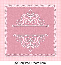 cor-de-rosa, cartão, com, um, padrão