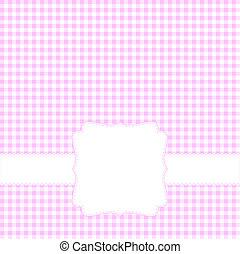 cor-de-rosa, cartão, em branco