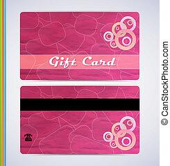 cor-de-rosa, cartão presente