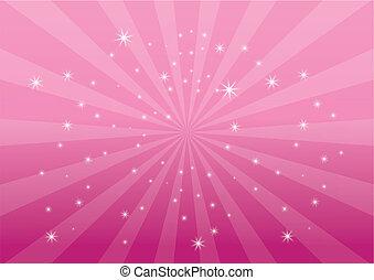 cor-de-rosa, colora experiência, luz