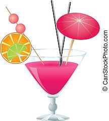 cor-de-rosa, coquetel