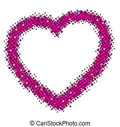 cor-de-rosa, coração, abstratos, vetorial