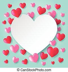 cor-de-rosa, coração, balões, vermelho