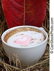 Cor-de-rosa, Coração, quentes,  marshmallow,  chocolate