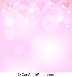 cor-de-rosa, corações, dia, fundo, valentine