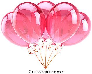 cor-de-rosa, decoração partido, balões