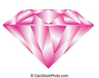 cor-de-rosa, diamante