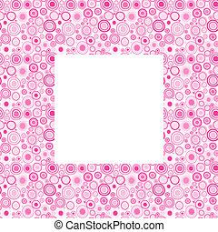 cor-de-rosa, doodle, quadro, círculos