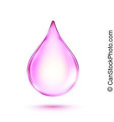 cor-de-rosa, drop, brilhante