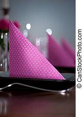 cor-de-rosa, e, verde, modernos, servindo
