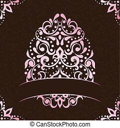 cor-de-rosa, elegante, quadrado, bandeira