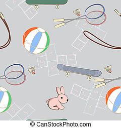 cor-de-rosa, equipamento, pequeno, brincando, coelho