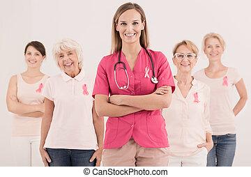 cor-de-rosa, fitas, câncer, consciência