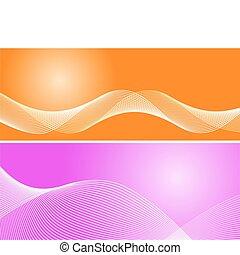 cor-de-rosa, fundo alaranjado