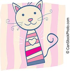 cor-de-rosa, gatinho