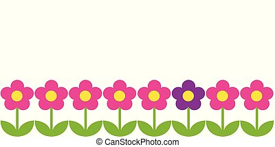 cor-de-rosa, horizontais, flores, fundo