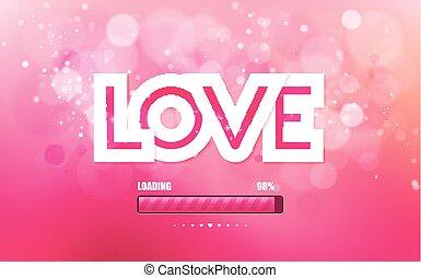 cor-de-rosa, inscrição, vetorial, amor, fundo