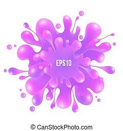 cor-de-rosa, isolado, respingo tinta, fundo, branca