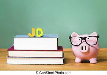 cor-de-rosa, juris, grau, doutor, tema, piggy, lei, banco