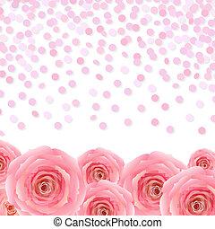 cor-de-rosa levantou-se, confetti