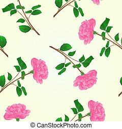 cor-de-rosa levantou-se, seamless, textura, caule, vector.eps