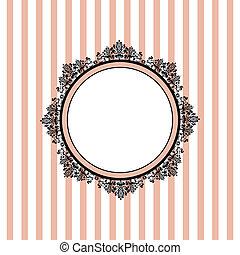 cor-de-rosa, listrado, vetorial, fundo