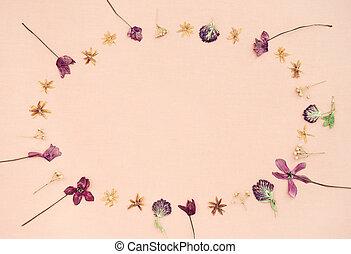 cor-de-rosa, lona, quadro, fundo, flores selvagens