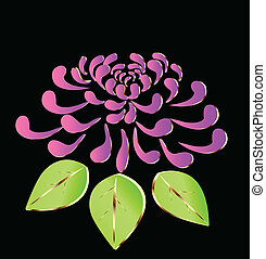Cor-de-rosa, loto, flor, logotipo