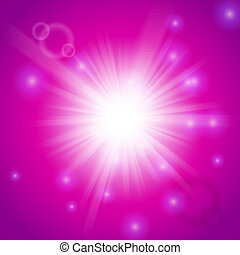 cor-de-rosa, luz, abstratos, magia, fundo