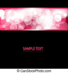 cor-de-rosa, luzes, glowing, fundo