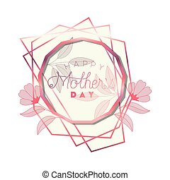 cor-de-rosa, mãe, quadro, tridecagon, dia, feliz
