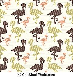 cor-de-rosa, marrom, flamingo, silueta, natureza, verde