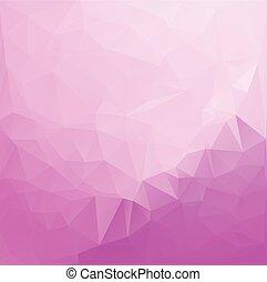 cor-de-rosa, modelos, vívido, ilustração negócio, cor, polygonal, fundo, vetorial, desenho, mosaico