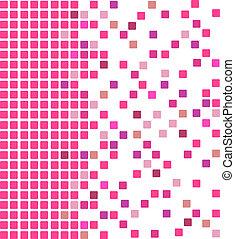 cor-de-rosa, mosaico, fundo