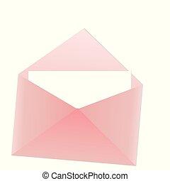 cor-de-rosa, nota, envelope