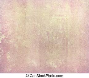 cor-de-rosa, pálido, aquarela, lavagem, ligado, papel feito...