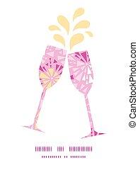 cor-de-rosa, padrão, abstratos, silhuetas, vetorial, vinho,...